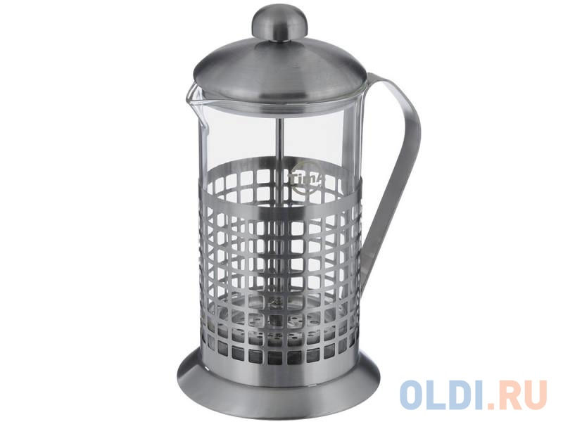 Френч-пресс Tima Бисквит PB-600 0.6 л металл/стекло серебристый