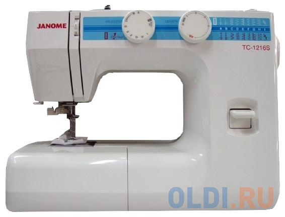 Швейная машина Janome TC-1216S белый швейная машина janome 90a белый