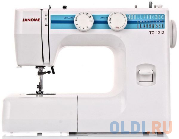 Швейная машина Janome TC 1212 белый швейная машина janome 90a белый