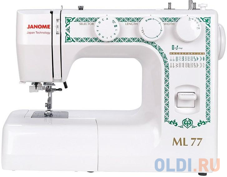 Швейная машина Janome ML 77 белый швейная машина janome 90a белый
