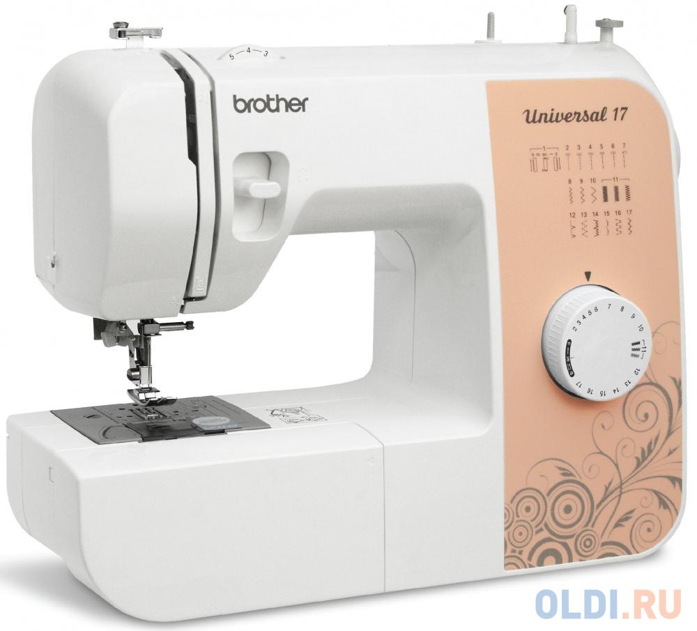 Фото - Швейная машина Brother Universal 17 бело-бежевый швейная машина brother hanami 17 бело розовый