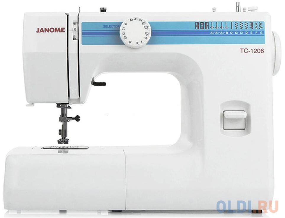 Швейная машина Janome TC 1206 белый швейная машина janome 90a белый
