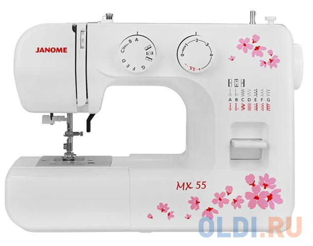 Швейная машина Janome MX 55 белый швейная машина janome 90a белый