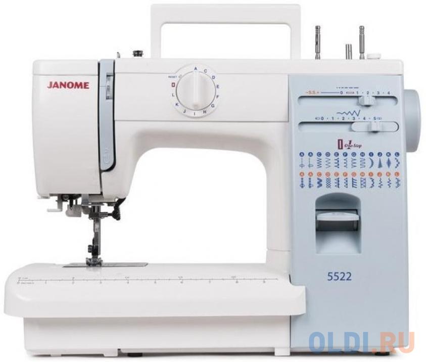Швейная машина Janome 5522 белый швейная машина janome 90a белый