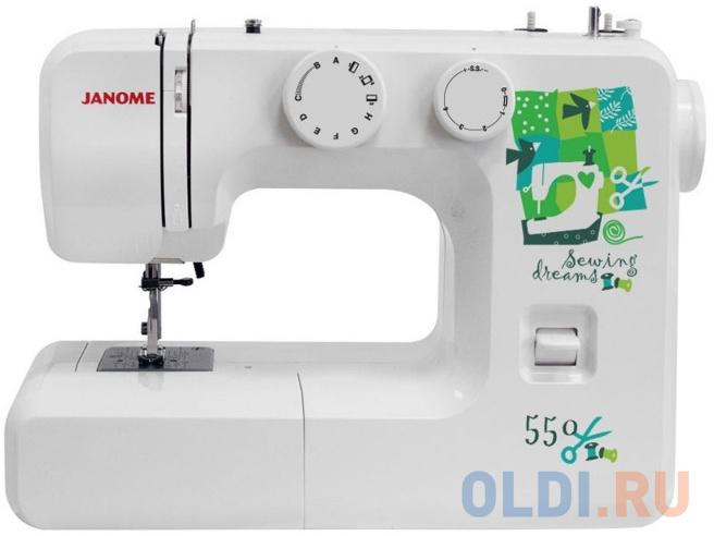 Швейная машина Janome 550 белый швейная машина janome 90a белый