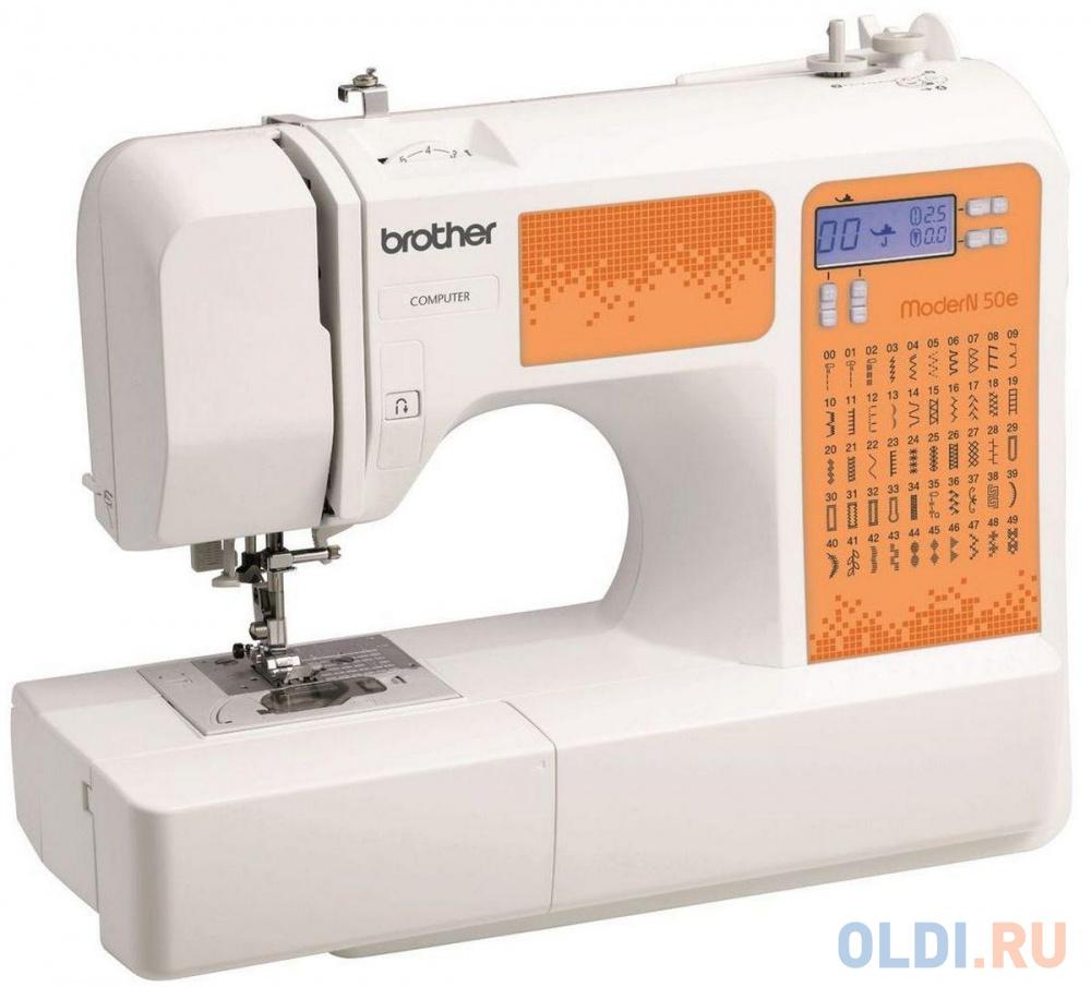 Фото - Швейная машина Brother ModerN 50E бело-оранжевый швейная машина brother hanami 17 бело розовый