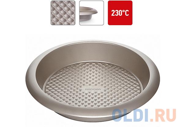Форма для выпечки круглая большая, стальная, антипригарная, 29,5х5,5 см, NADOBA, серия RADA