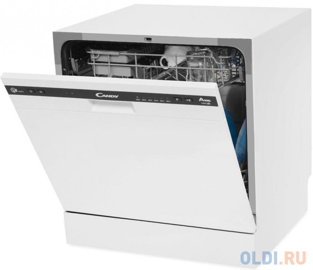 Посудомоечная машина Candy/ 55x50x59.5, 8 комплектов, AAA, таймер отсрочки старта, LED подсветка, расход 8л, белая посудомоечная машина hyundai dt205 компактная белая