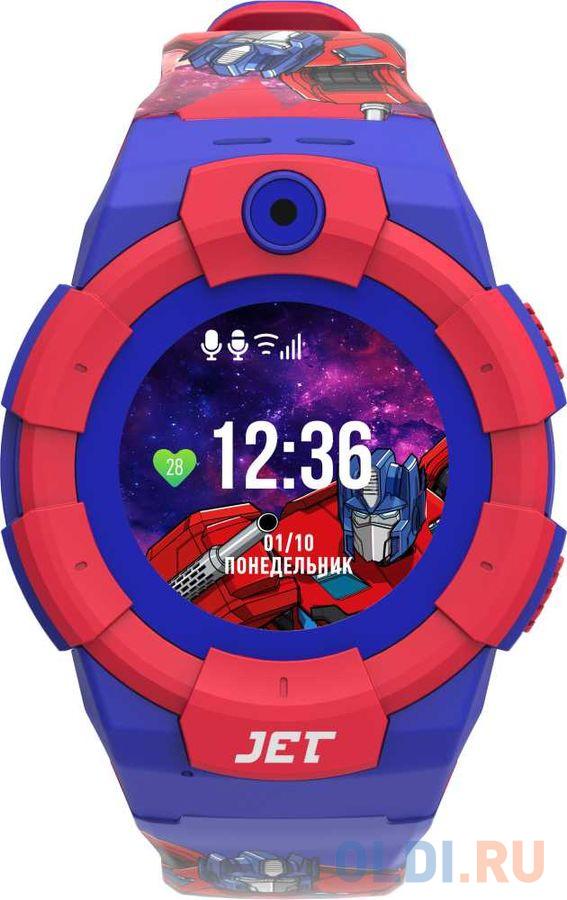Смарт-часы Jet Kid Optimus Prime 45мм 1.44 TFT синий/красный jet kid smart синий