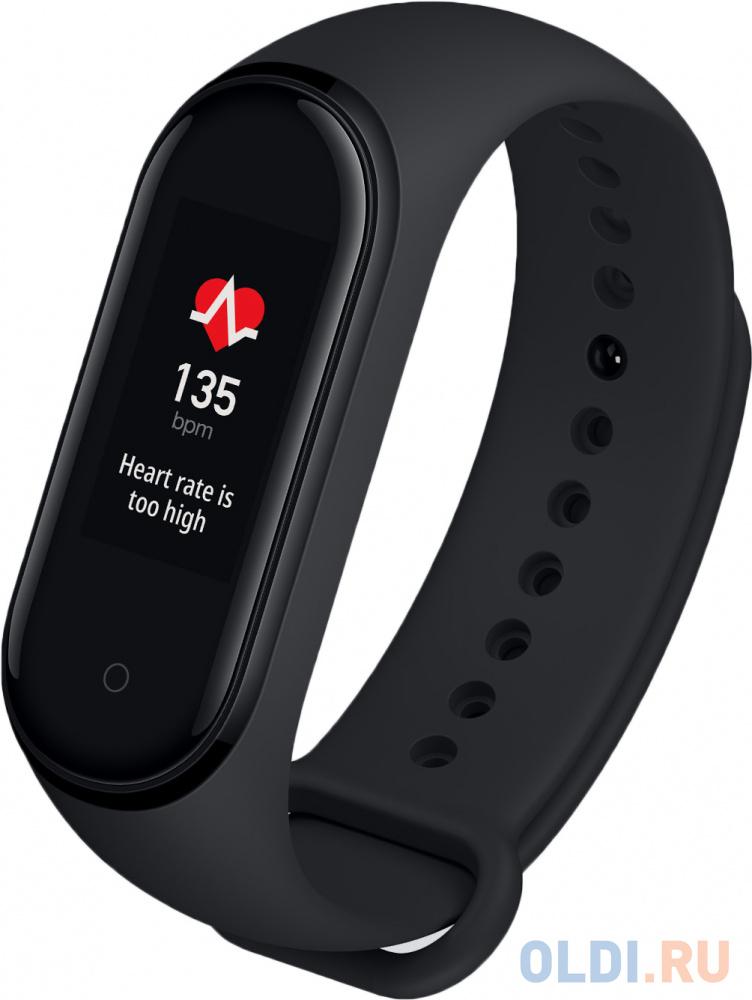 Фитнес-трекер Xiaomi Mi Band 4 NFC AMOLED корп.:черный рем.:черный (MGW4059RU(XMSH08HM)).