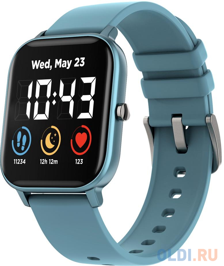 Фото - CANYON Wildberry SW-74 Smart watch, 1.3inches TFT full touch screen, Zinc plastic body, IP67 waterproof, multi-sport mode, compatibility with iOS and android, blue body with blue silicon belt, Host: 43*37*9mm, Strap: 230x20mm, 45g умные часы smart watch 1 3inches ips full touch screen silver alloy plastic body ip68 waterproof multi sport mode with swimming mode compatibility with ios and android white black with extra black belt host 262x43 6x12 5mm strap 240x22mm