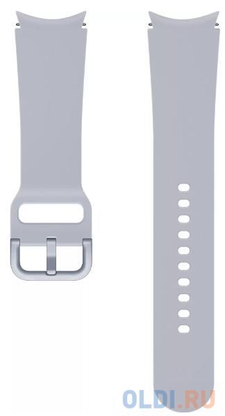 Фото - Ремешок Samsung Galaxy Watch Sport Band серебристый (ET-SFR86SSEGRU) ремешок samsung stitch leather band для galaxy watch3 45мм watch 46мм коричневый