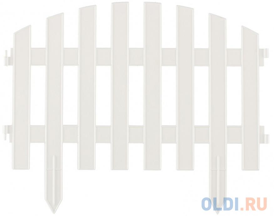 Забор декоративный Винтаж, 28 х 300 см, белый, Россия// Palisad забор декоративный винтаж 28 х 300 см терракот россия palisad