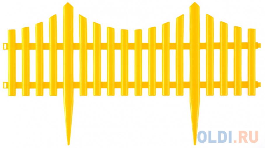 Забор декоративный Гибкий, 24х300 см, желтый, Россия// Palisad забор park ромб декоративный гибкий l 2 4м h 22см 4шт по 60см и 8 ножек белый 999161