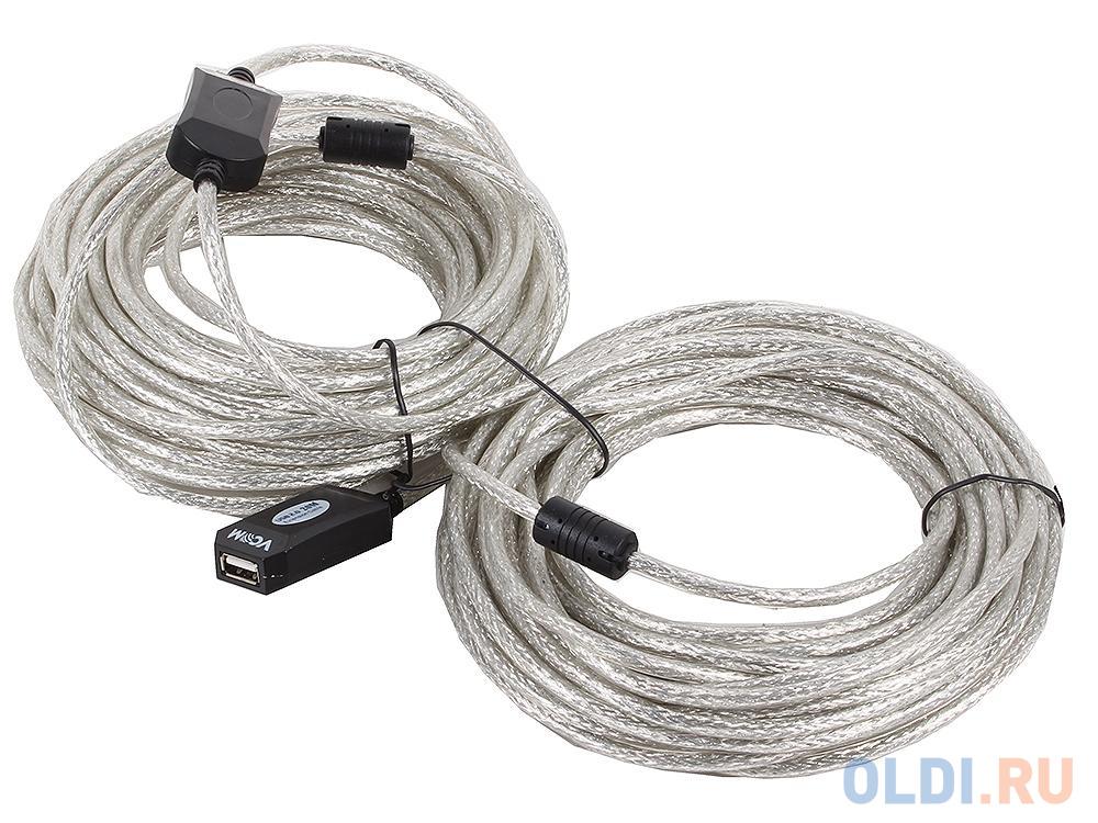 Кабель-адаптер USB2.0-repeater, удлинительный активный Am--Af 20м VCOM VUS7049-20M