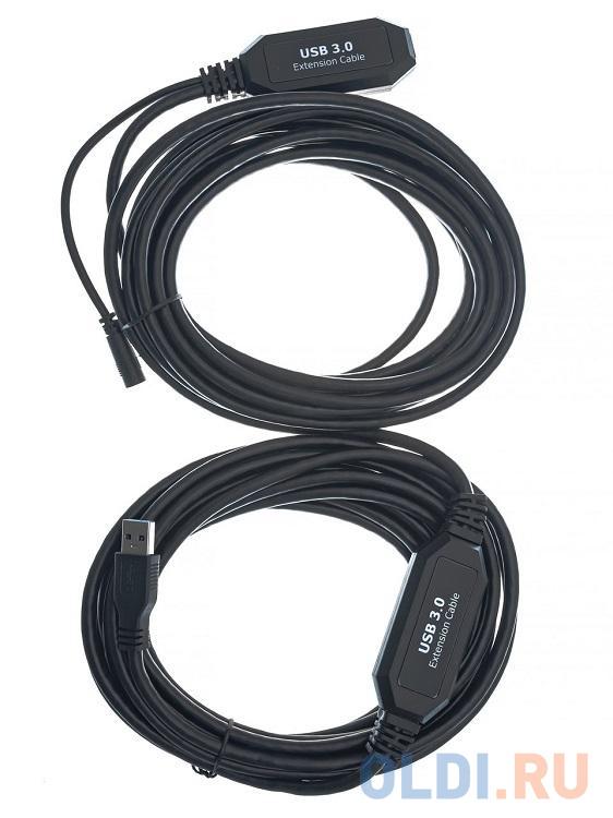 Кабель-адаптер USB3.0-repeater, удлинительный активный Am--Af 10м VCOM CU827