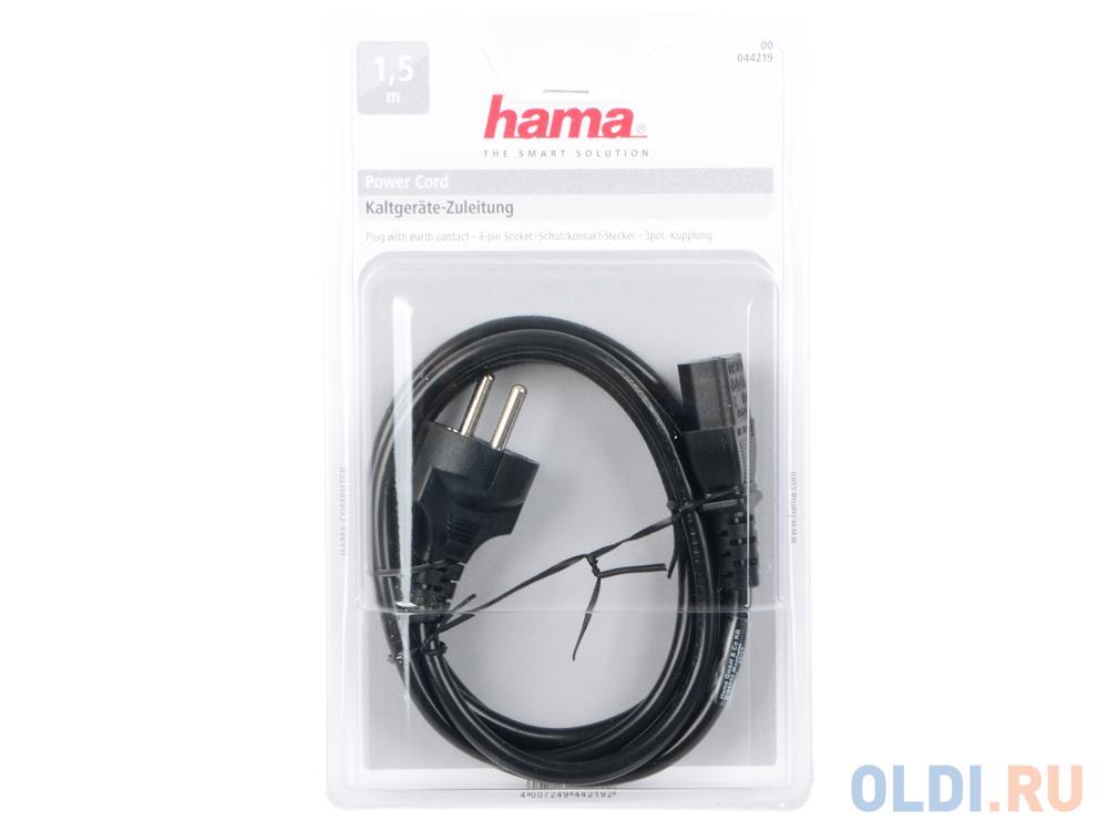 Фото - Кабель питания для бытовой электроники 1.5м Hama H-44219 с заземлением черный иеромонах анатолий е м горская н н николаев обольщение о биодобавках
