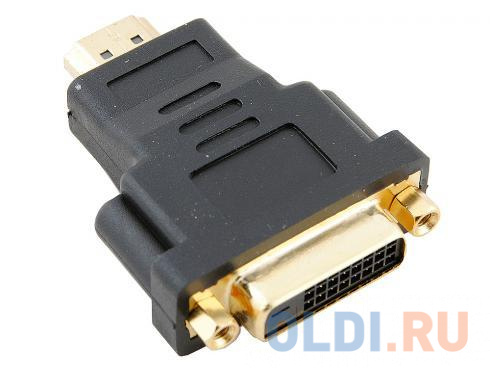 Переходник HDMI 19M - DVI-D 25F VCOM переходник vcom hdmi hdmi ca313