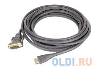 Фото - Кабель HDMI - DVI 19M/19M Single Link Gembird\\Cabelexpert 1.8м, черный, позол.разъемы, экран, пакет CC-HDMI-DVI-6 кабель hdmi dvi gembird 1 8м 19m 19m single link черный позол разъемы экран пакет