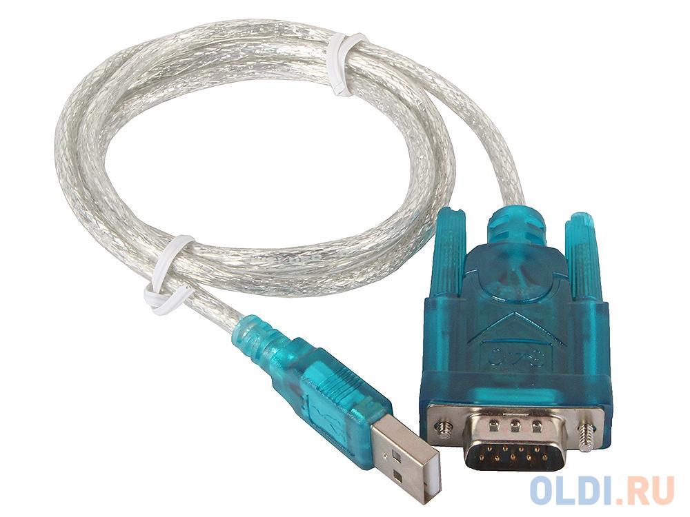 Кабель-адаптер USB AM <- COM DB9M(RS232) Orient USS-102 1.2 метра, крепление COM винты, ret