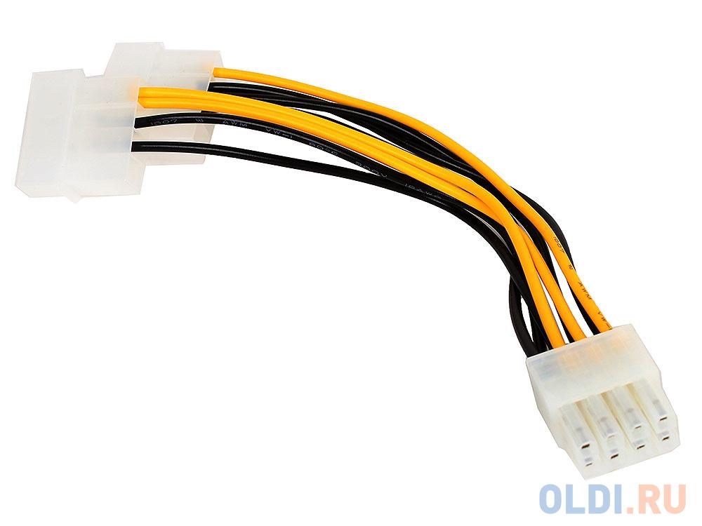Фото - Разветвитель питания Cablexpert CC-PSU-81, 2хMolex->PCI-Express 8pin, для подключения в/к PCI-Е (8pin) к б/п ATX аксессуар кабель питания gembird cablexpert pci express 6 2 pin m pci express 6 2 pin f 30cm cc psu 84