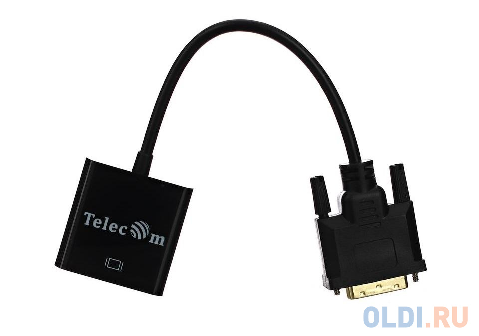 Кабель-переходник DVI-D 25M ---> VGA 15F Telecom переходник vcom telecom vad7817 dvi vga 29m 15f