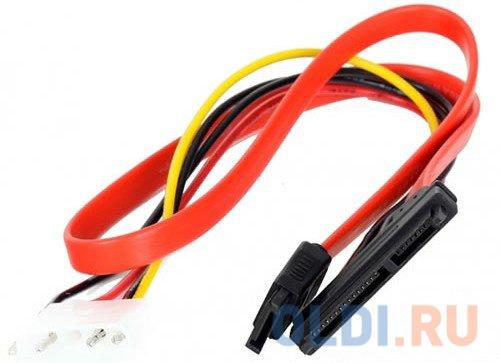 Переходник molex+SATA/SATA, 15pin+7pin, (длина инт - 45см, питание - 15см) VCOM VHC7702