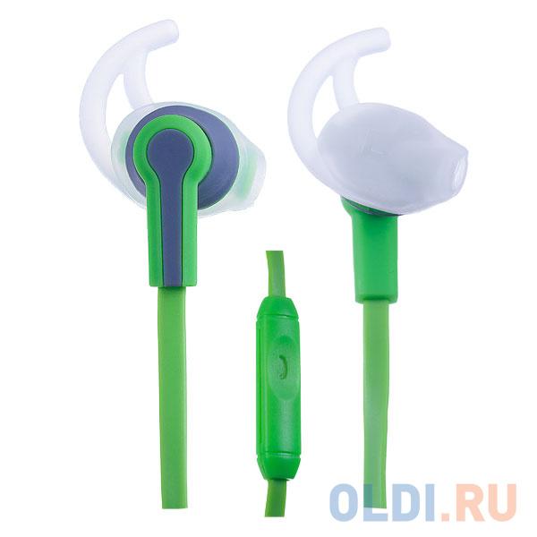 Гарнитура Perfeo Sport зеленый/серый PF-SPT-GRN/GRY