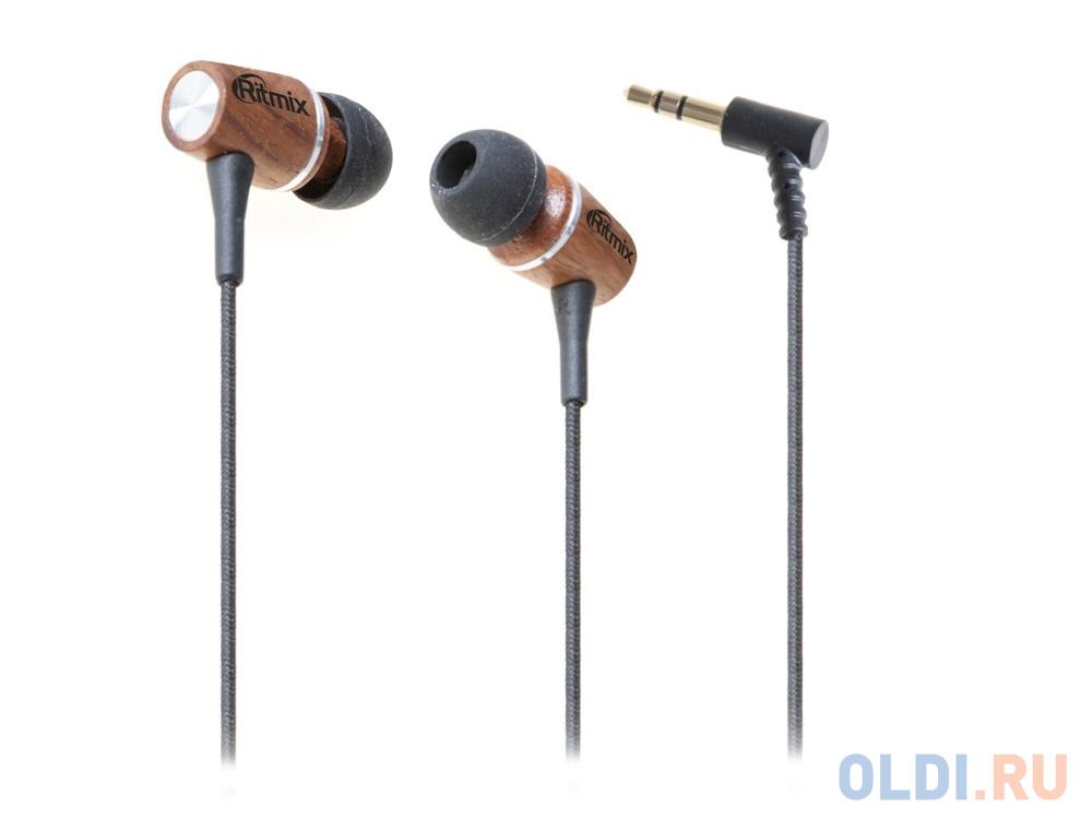 Наушники Ritmix RH-160 черно-коричневый