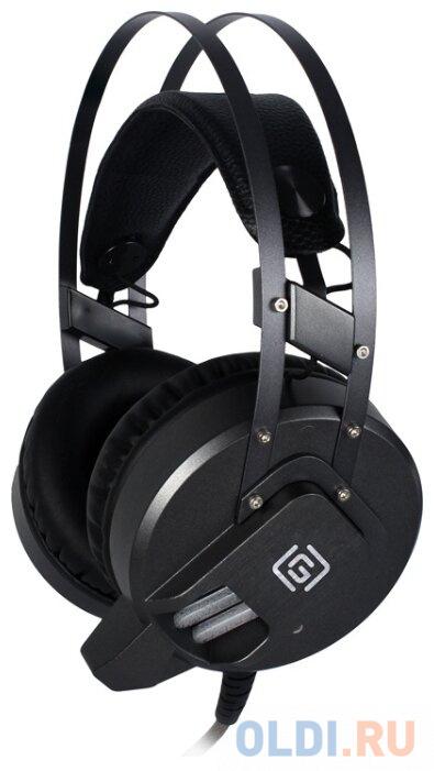 Наушники с микрофоном Oklick HS-L550G черный 2.2м мониторы оголовье