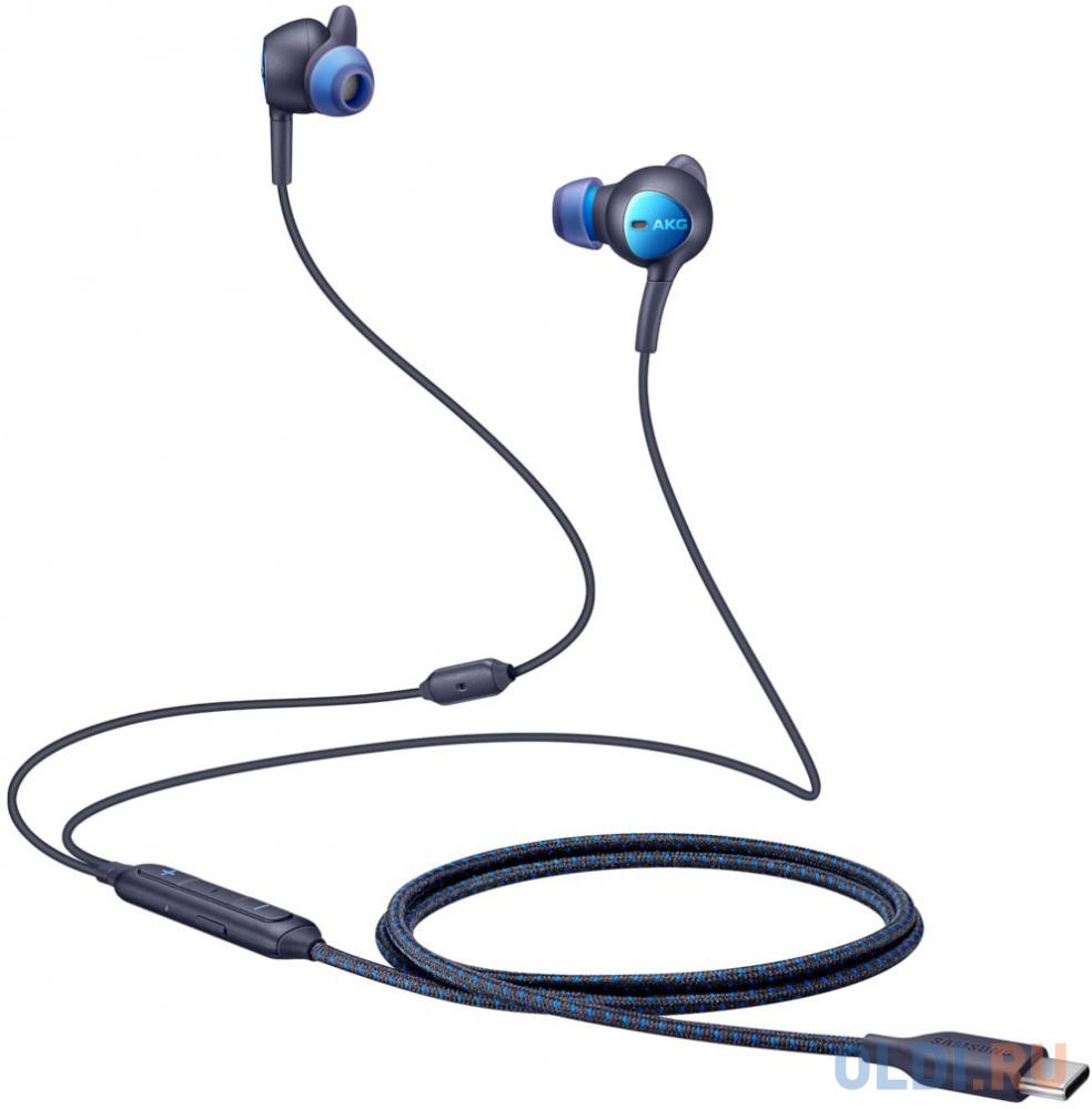 Гарнитура вкладыши Samsung EO-IC500 1.2м черный/синий проводные (в ушной раковине)