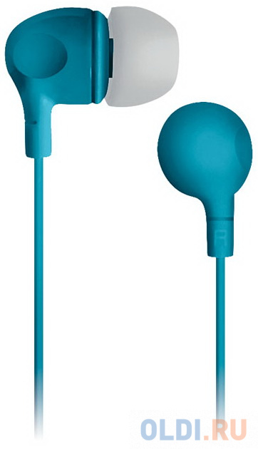 Наушники вкладыши BBK EP-1105S 1.2м бирюзовый проводные (в ушной раковине) наушники philips she4305wt вкладыши белый проводные