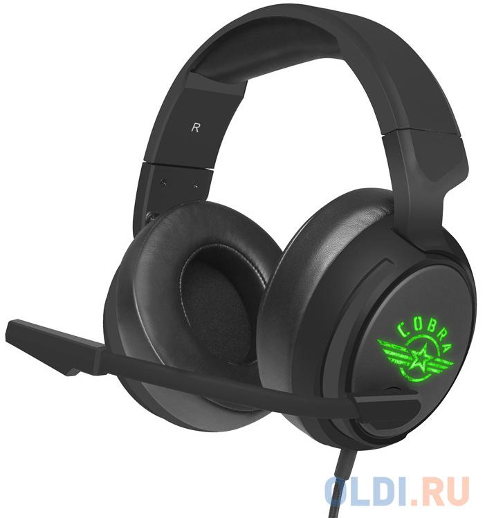 Игровая гарнитура проводная Oklick HS-L950G черный игровая гарнитура oklick hs l930g snorter черный синий hs l930g