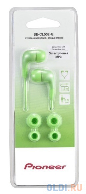 Наушники Pioneer SE-CL502-G зеленый