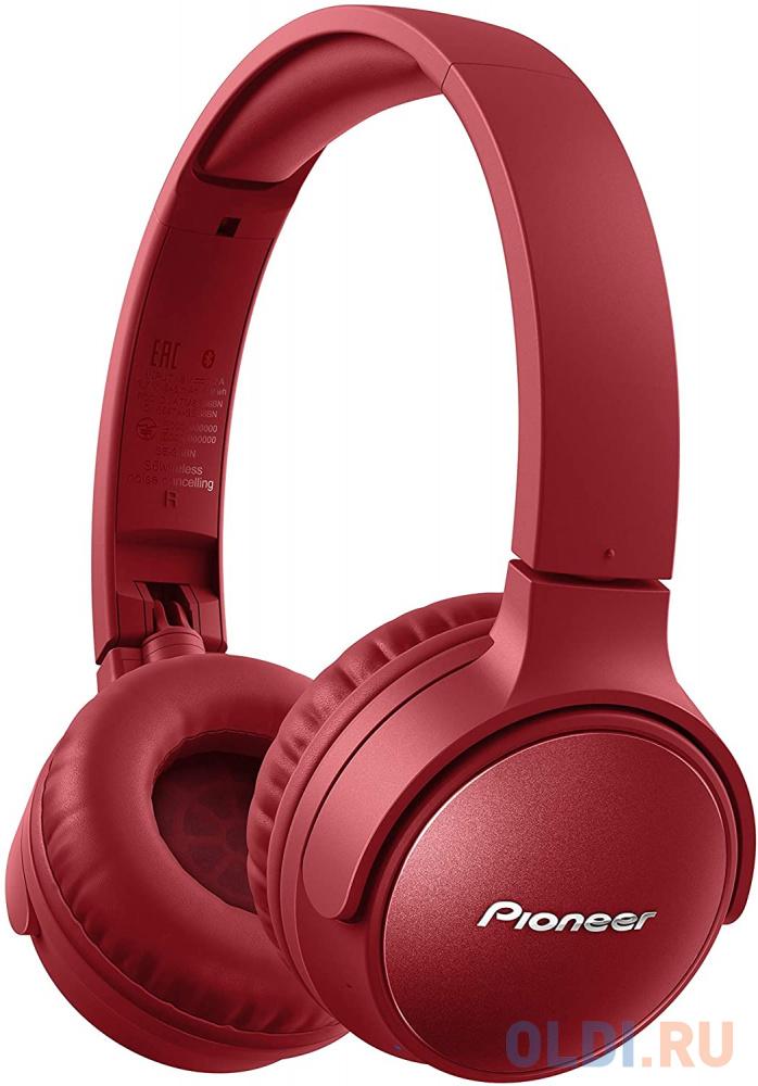 Гарнитура Pioneer SE-S6BN-R красный