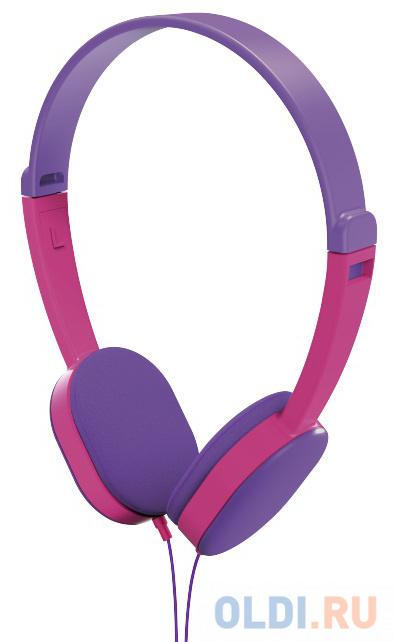 Наушники HAMA Kids фиолетовый розовый 00177014 наушники hama blinkn kids 135663