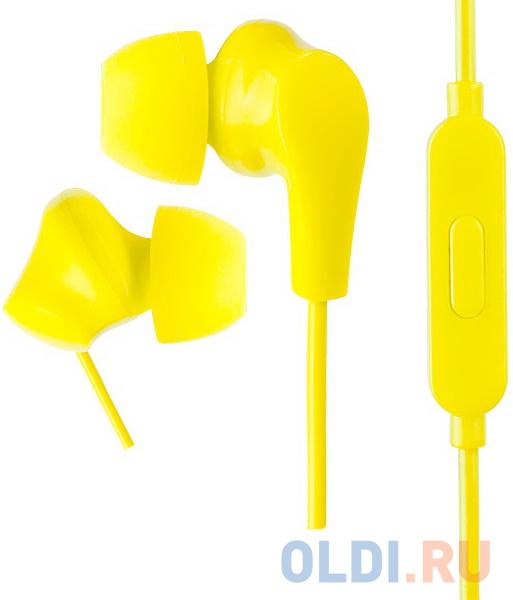 Perfeo наушники внутриканальные c микрофоном ALPHA желтые