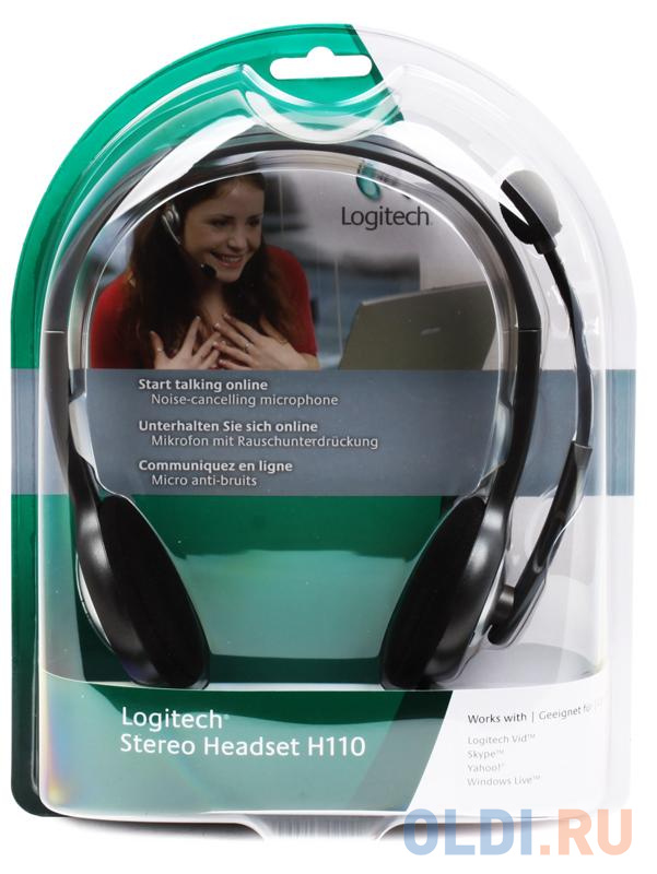 Фото - (981-000271) Гарнитура Logitech Headset H110 гарнитура logitech headset zone wired uc 981 000875 серые