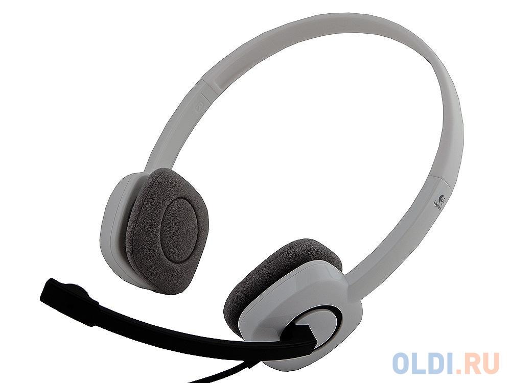 (981-000350) Гарнитура Logitech Stereo Headset H150, CLOUD WHITE