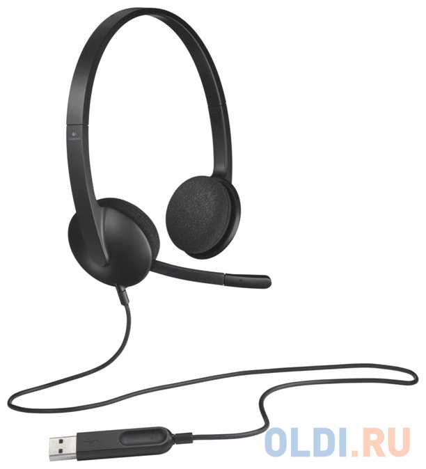 (981-000475) Гарнитура Logitech Headset H340 USB гарнитура logitech headset zone wired uc 981 000875 серые