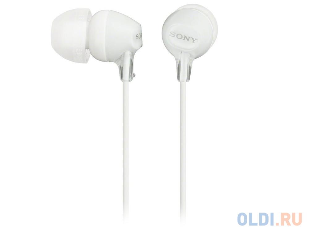 Фото - Наушники SONY MDR-EX15LPW вкладыши, цвет белый наушники sony mdr xd150 белый