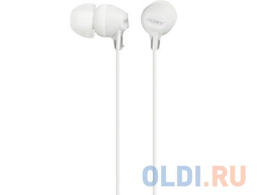 Гарнитура SONY MDR-EX15APW вкладыши, цвет белый
