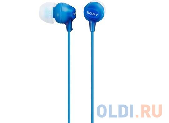 Гарнитура SONY MDR-EX15APLI вкладыши, цвет синий