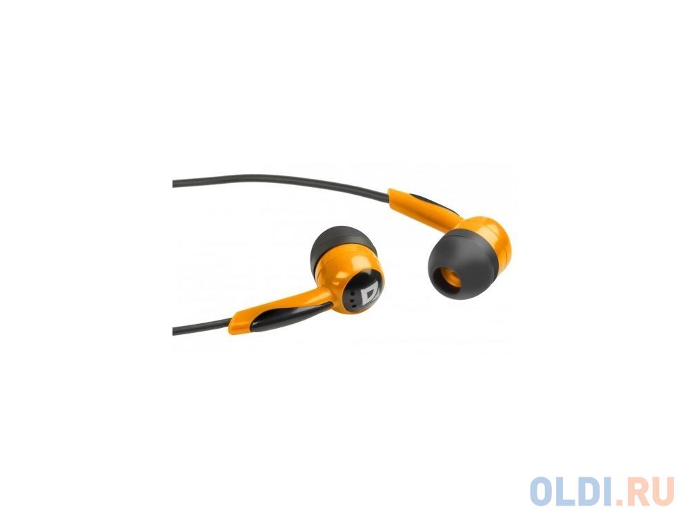 Наушники Defender Basic-604 Orange кабель 1,1 м