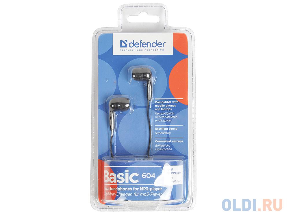 Наушники Defender Basic-604 Black кабель 1,1 м