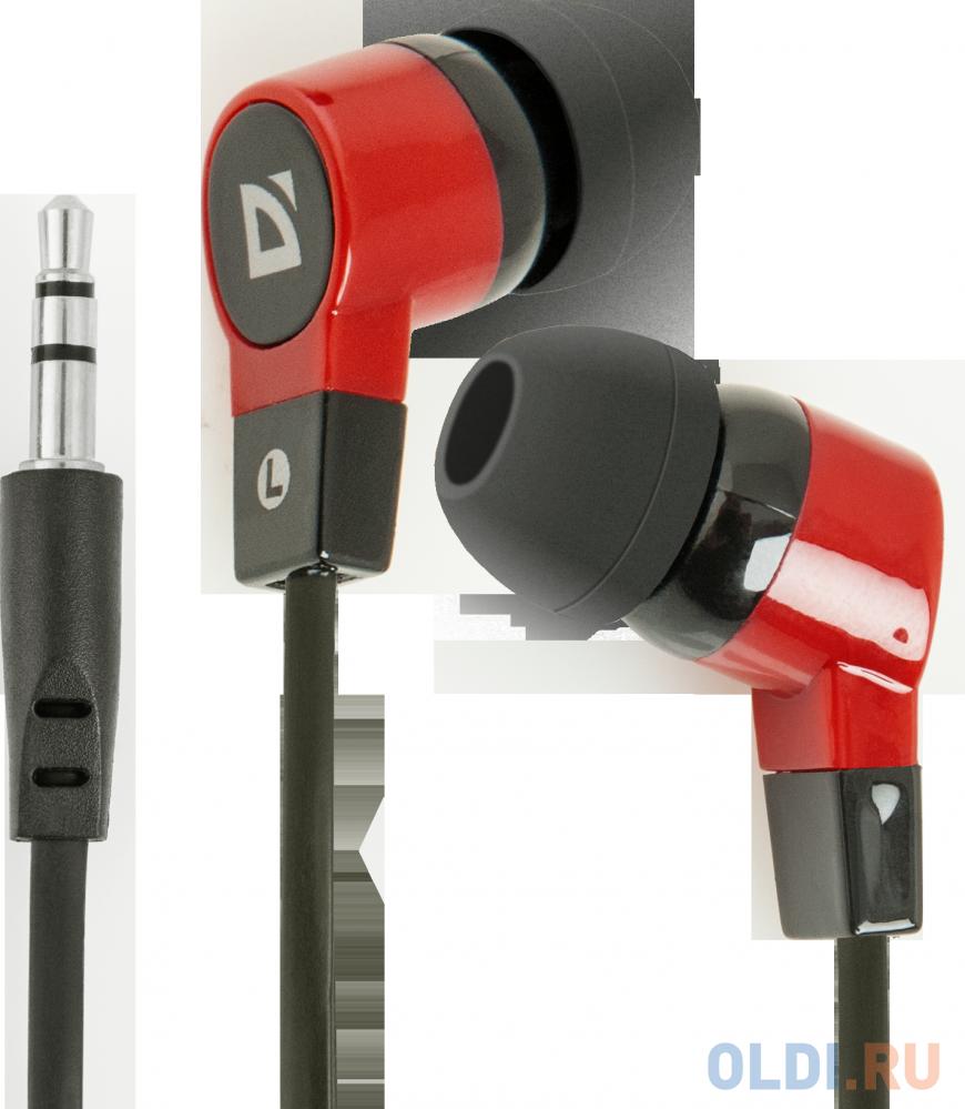 Наушники Defender Basic-619 Black/red кабель 1,1 м