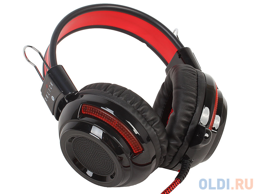 Гарнитура Oklick HS-G300 черный/красный 2.5м мониторы (AH-V1)