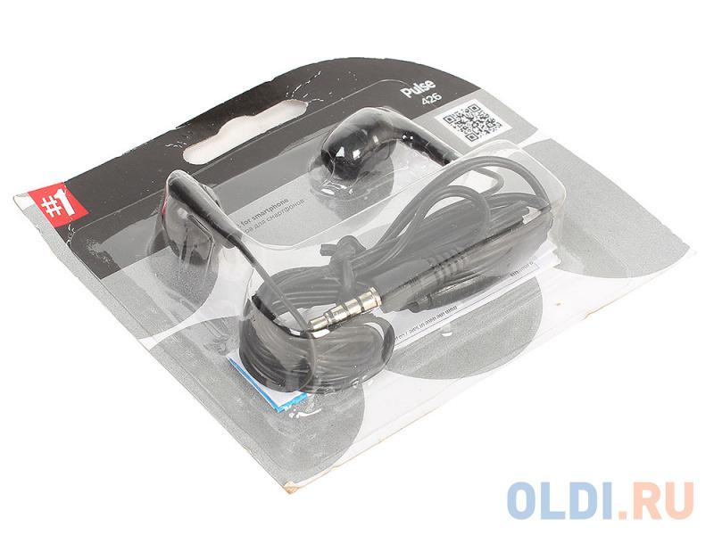 Гарнитура Defender Pulse-426 Black 4-пин 3,5 мм jack, кабель-1,2м