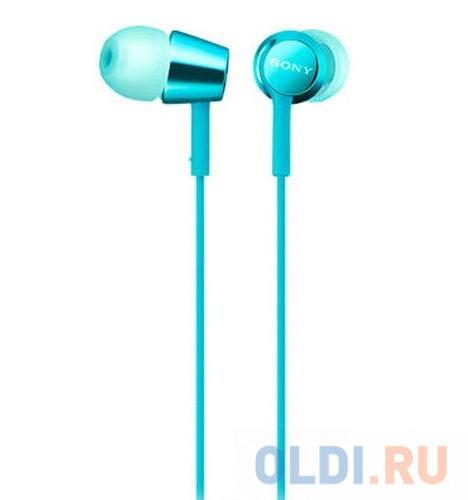 Фото - Наушники (гарнитура) Sony EX155AP Blue наушники sony mdr ex155ap light blue