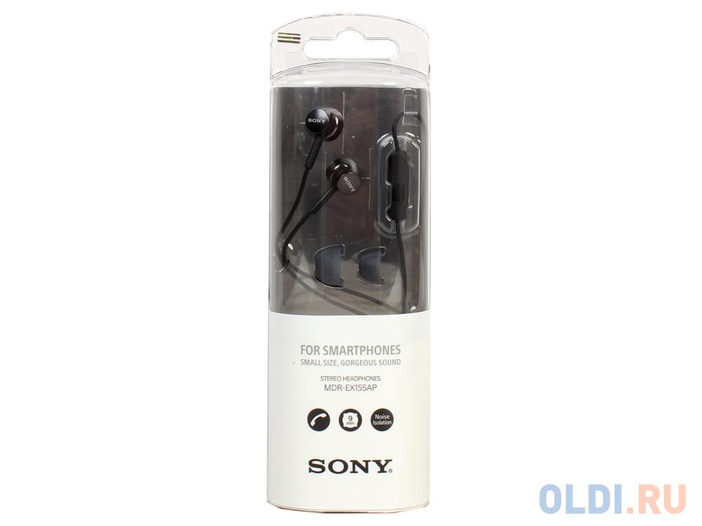 Гарнитура SONY EX155AP вкладыши, цвет черный